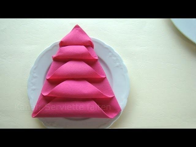 weihnachtsdeko basteln servietten falten weihnachten weihnachtsbaum. Black Bedroom Furniture Sets. Home Design Ideas