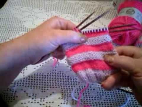 Wurm-Muster, der Trick mit der Doppelmasche