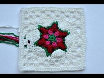 "Adventskalender * 22. Dezember * Granny Square ""Poinsettia"""