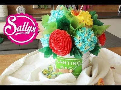 Cupcake Blumenstrauß in wenigen Schritten. Cupcake Flower Bouquet