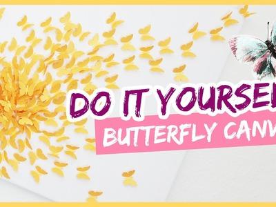 DIY Butterfly flight II Leinwand Kunst