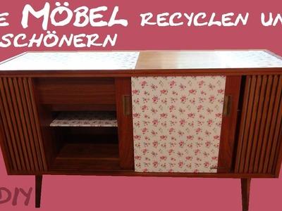 DIY Möbel - Ein alter Schrank bekommt einen neuen Look. Zimmer verschönern