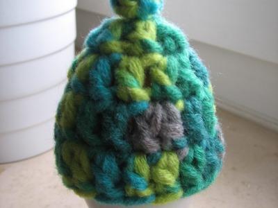 Eierwärmer häkeln, Mini-Mütze mit Bommel, Anleitung