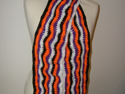 Einen sehr schönen Schal Häkeln mit tollen Muster Stufe 1 für Anfänger