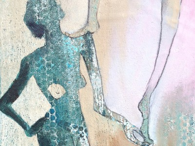 """Gelatine-Druck """"Balance"""" auf Leinwand aufgezogen gelatin print mounted on canvas"""
