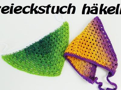 Häkeln Dreieckstuch  - Sommer - Bandana