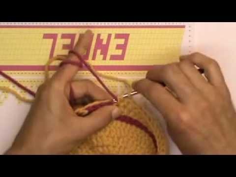 Häkeln Pixelmaschen - Mütze mit Namen Teil 3 Buchstaben-Anfang
