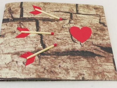 Karte für Verliebte für Jahrestag, Geburtstag & Valentinstag - Herz & Pfeile
