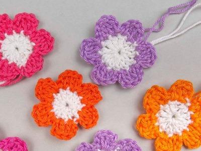 Kleine Blüte häkeln