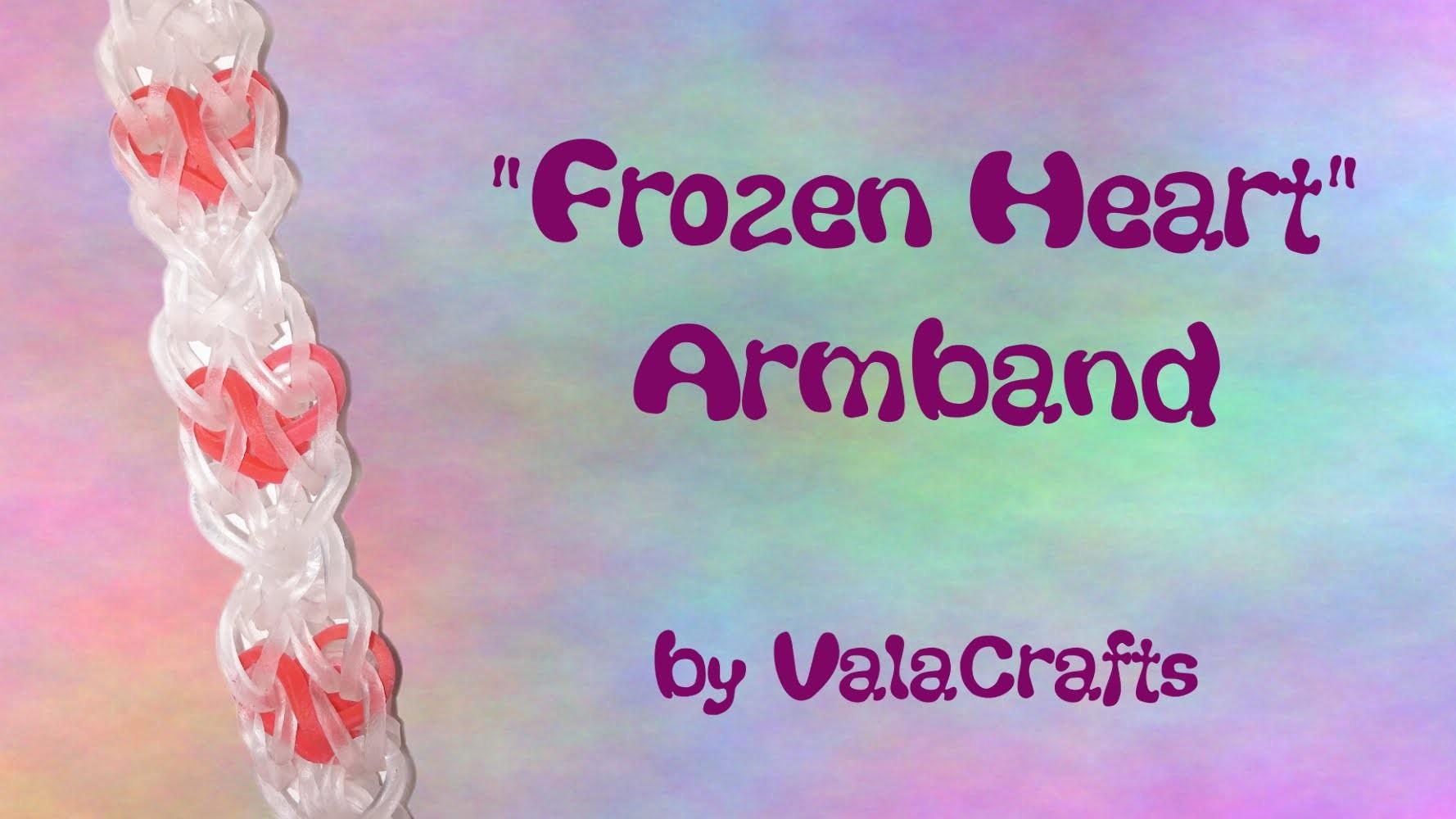 NEU Rainbow Loom Frozen Heart Armband (Original Design)