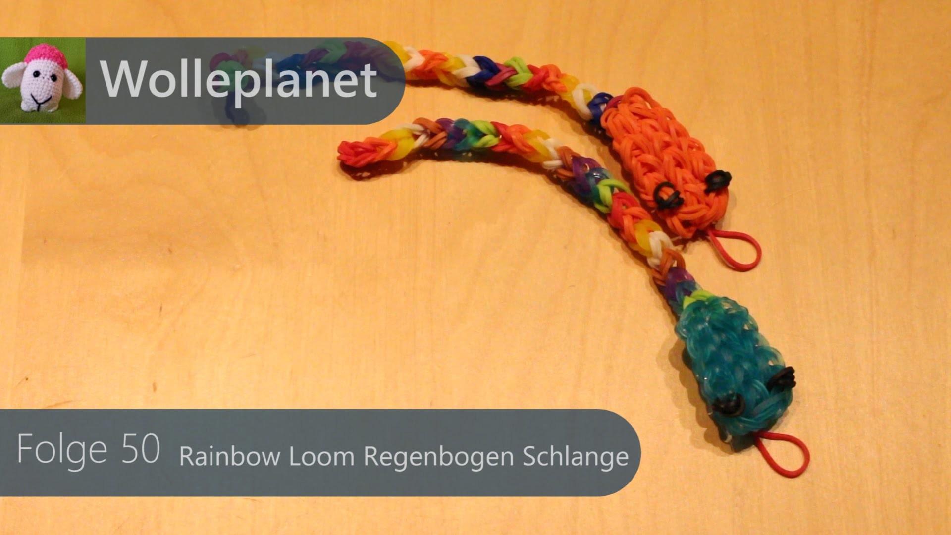 Rainbow Loom - Regenbogen Schlange mit Loom
