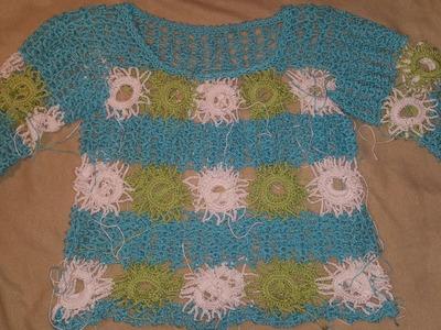 Sommershirt Claudia Filli Crochet Granny # Häkeln mit Yve