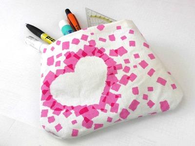 Tasche ohne Nähen mit Stoff und Ducktape selber machen - eigene Tasche basteln