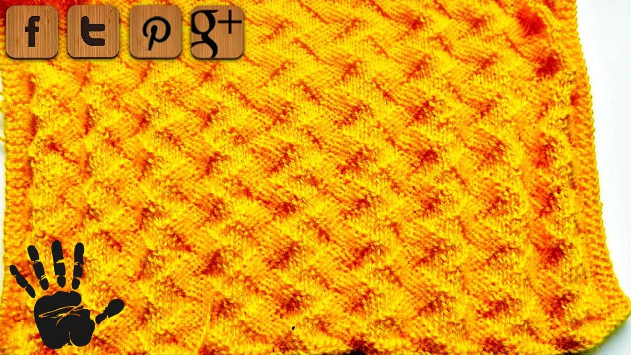 Zickzack Muster Linkshänder Strickanleitung - © Woolpedia