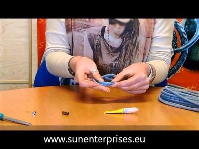 Armband aus rundem Nappa Leder herstellen