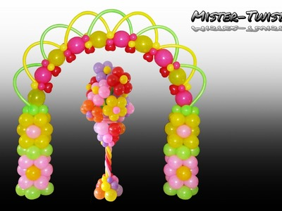 Balloon Flower Arch, Birthday, Decoration, Ballon Blume, Blumenbogen, Ballonbogen, Dekoration