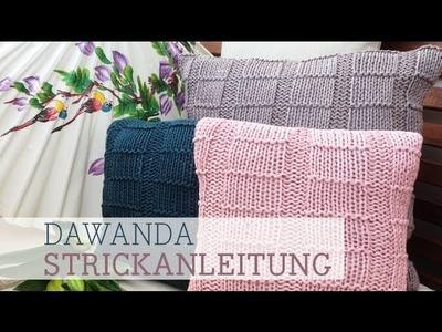 DaWanda Strickanleitung: Kissen stricken