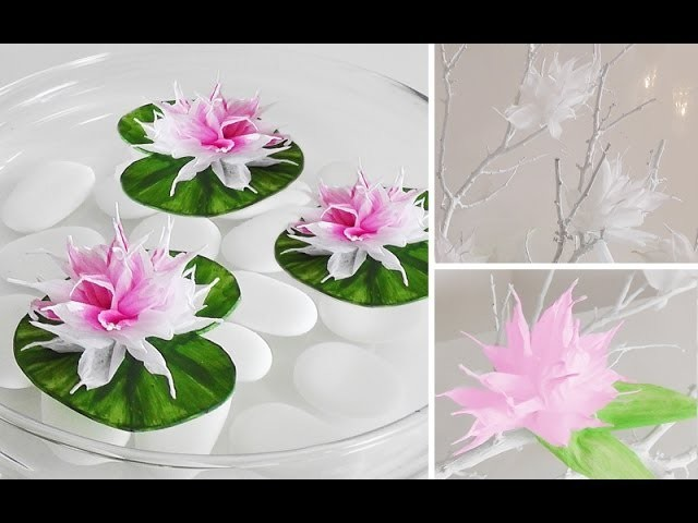 DIY: Wunderschöne Blüten aus Krepp-Papier einfach selber machen   Deko Kitchen