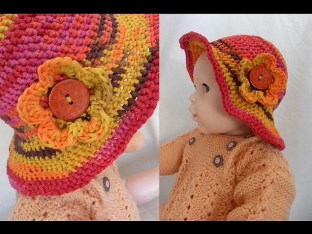 Häkeln - Baby-Hut Hütchen CATANIA - Woolly Hugs 05 - Veronika Hug