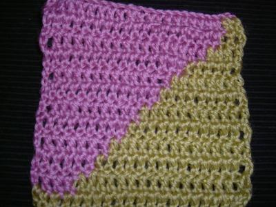 Ihr 14. Quadrat für ihre Patchwork Decke Häkeln (lernen in 2 Farben Häkeln)