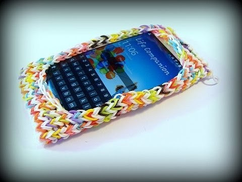 Loom Bandz Anleitung, Rainbow Loom iPhone, iPod Hülle, Loom Bands Handyhülle, Smartphone deutsch