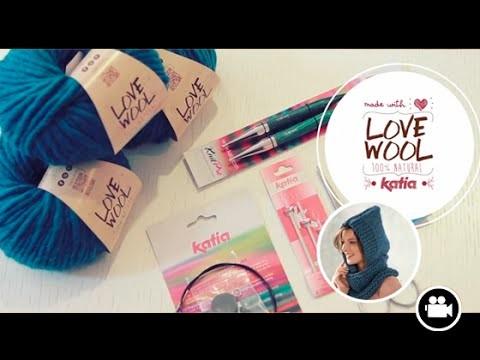 Love Wool DIY circular needles: Cuello capucha · Neck warmer hood