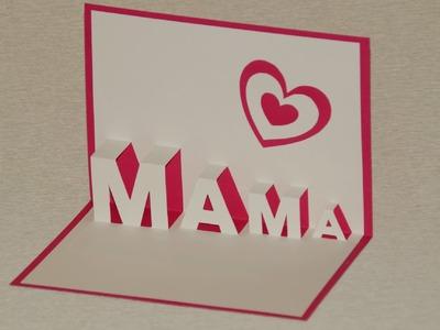 Muttertagsgeschenke basteln: Pop Up Cards zum Muttertag selber basteln