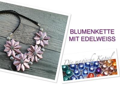 Nespresso Kapsel Schmuck Anleitung - Blumenhalskette mit Edelweiss - die magische (Kaffee)-Kapsel