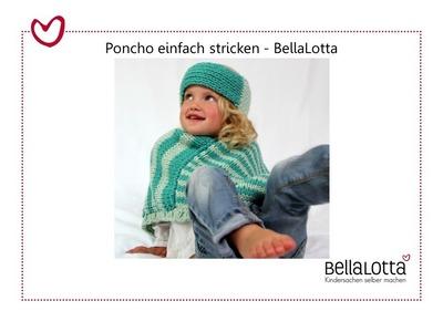 Poncho einfach stricken - Stricken lernen für Anfänger