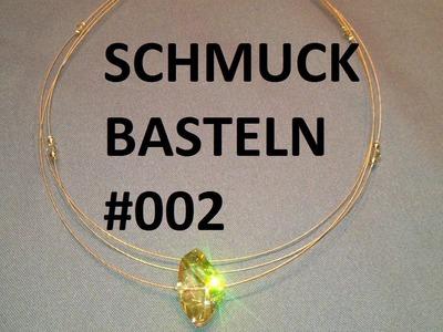 Schmuck selber basteln #002 - Collier mit Swarovski Perlen