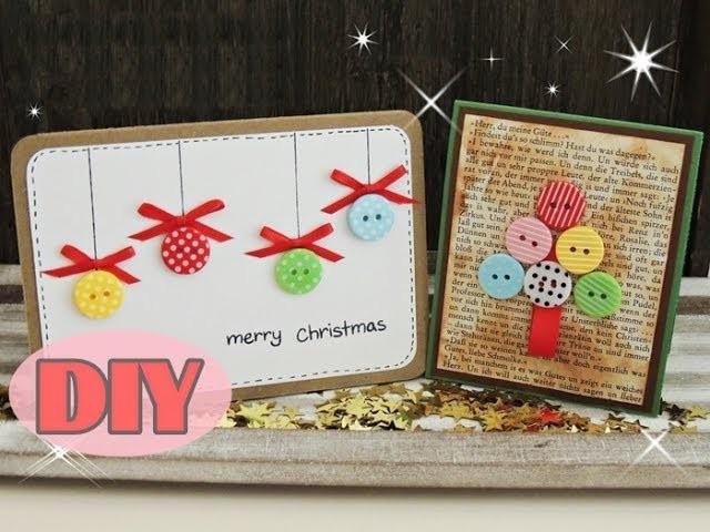 weihnachtskarten selber basteln 4 weihnachtskugeln christmas card diy. Black Bedroom Furniture Sets. Home Design Ideas