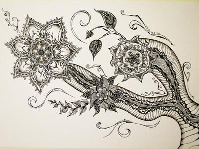 Zentangle Zeichnung #1 *Zeitraffer