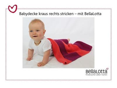 Babydecke stricken für Anfänger - kraus rechts