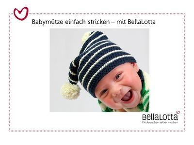 Bömmelmütze für Babys stricken - Einfach stricken lernen