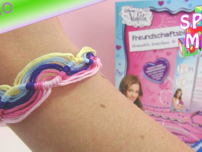 Disney Violetta Freundschaftsbändchen Set Demo Anleitung Wellenarmband