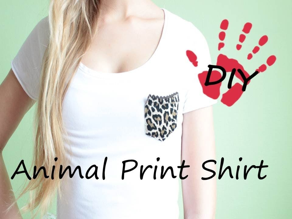 DIY- Animal Print Shirt - Aus alt mach neu!