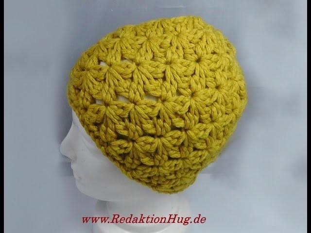 Häkeln - Mütze im kleinen Blütenmuster - Veronika Hug