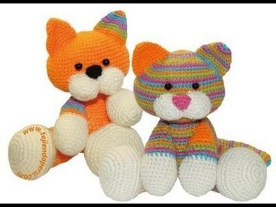 Häkeln Stricken Tiere - 60 Bilder von Tieren TEIL 1 - Katzen, Hunde, Hasen, etc.