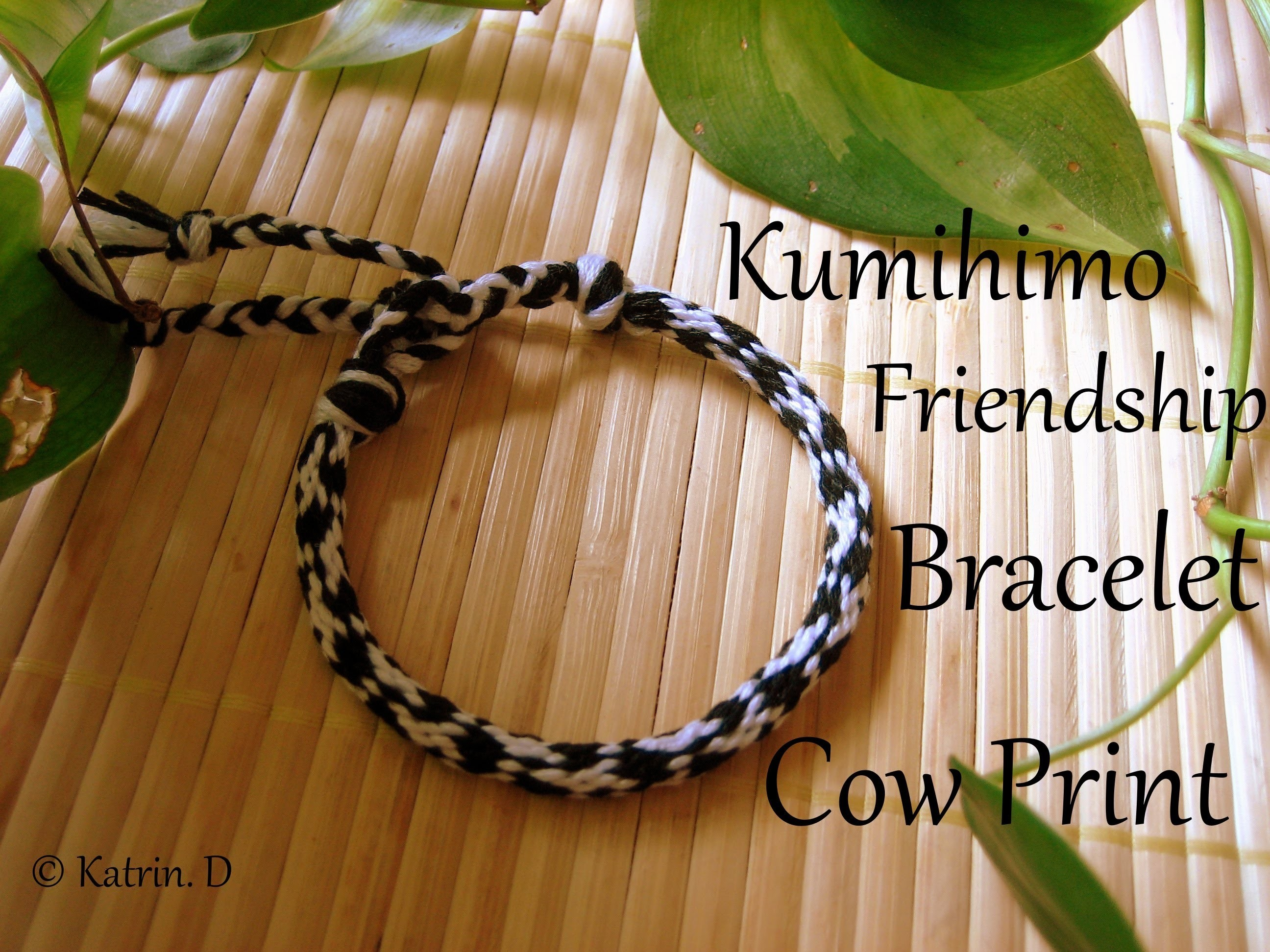 Kumihimo Friendship Bracelet Cow Print