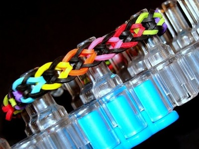 Loom Bands mit Rainbow Loom -  Fishtail Armband Var. 2 Anleitung deutsch
