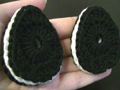 Osterei häkeln - als OREO Keks - tolle Dekoration für Ostern