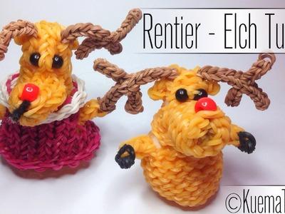 Rainbow Loom 3D Rudolf Rentier. Reindeer