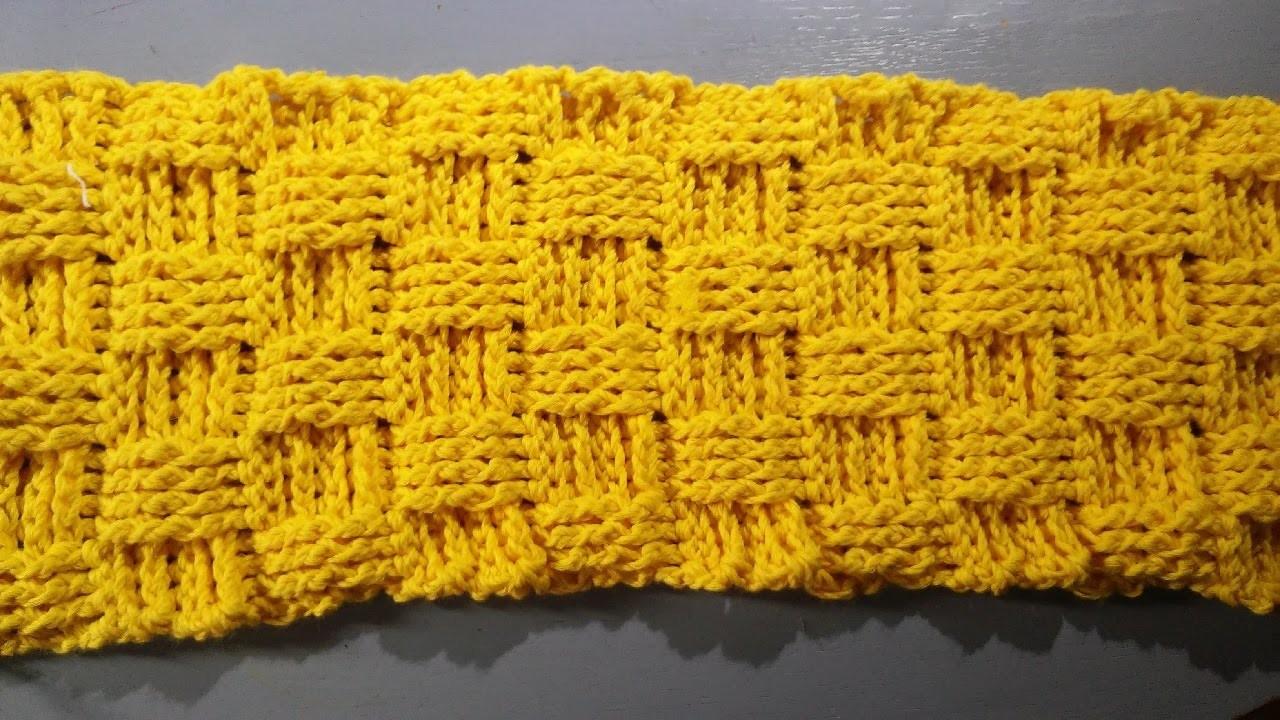 Schal oder Loop häkeln - Korbmuster