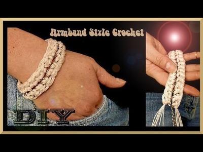 Schmuck selber machen: Armband aus umhäkelter Kette
