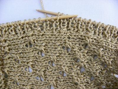 Stricken - Auffassen der Maschen für eine Blende im Rippenmuster