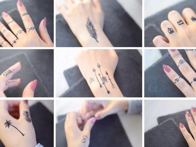 40 TATTOO IDEEN - Temporary | Tattoostift, DIY, (Henna) Tattoo Alternative