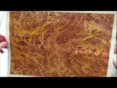 Acrylmalerei   Folientechnik mit Metallic   Farben, Teil 1