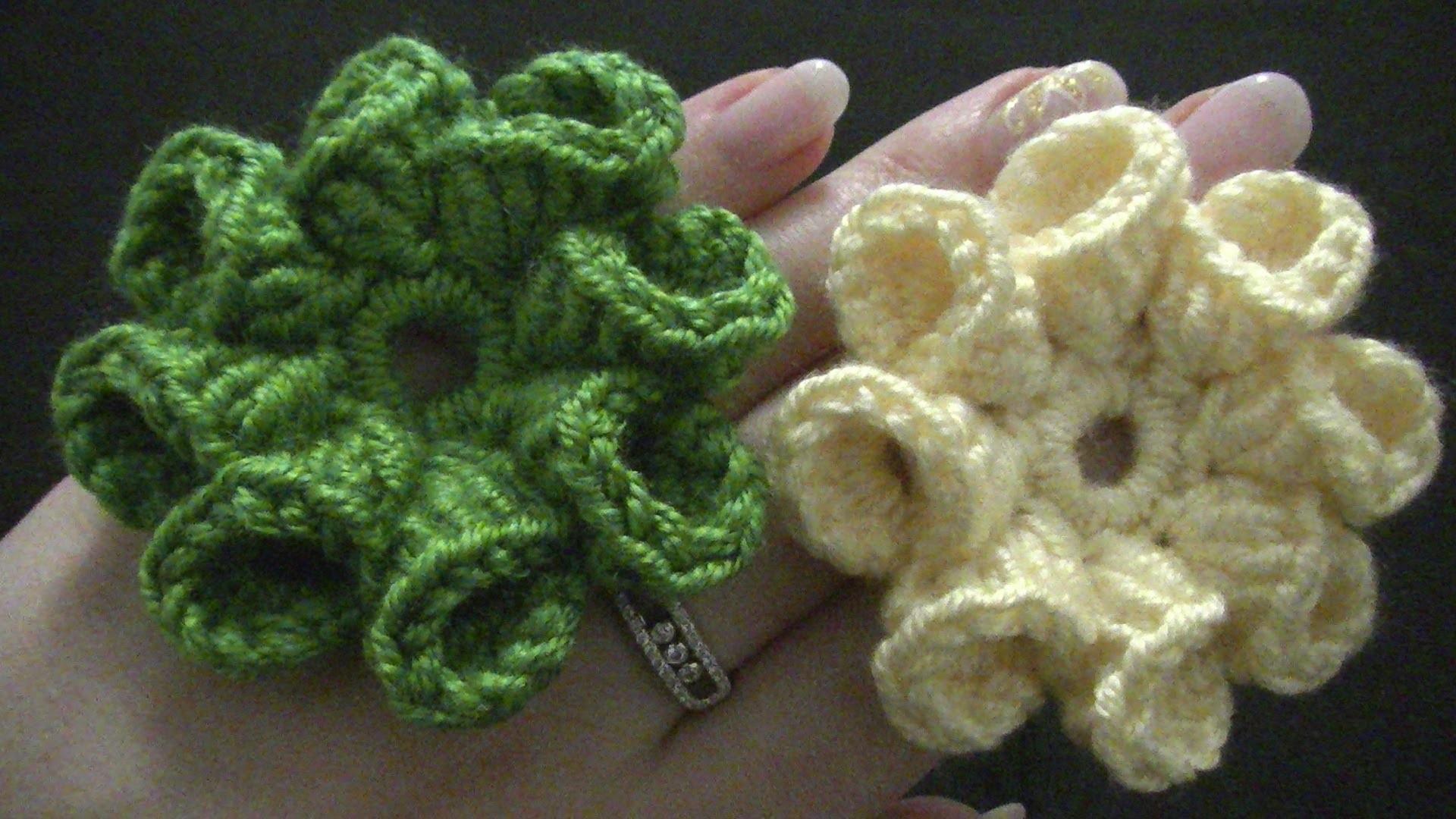 Blume häkeln - 8 Blätter - 3D Blume - TEIL 2 von 2