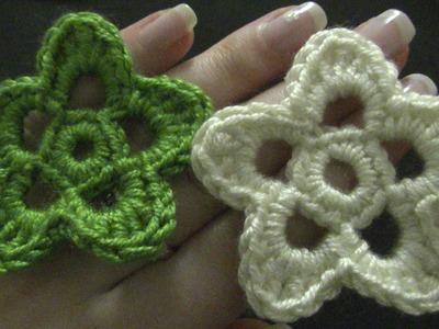 Blume häkeln - einfach und schnell - 5 Blätter