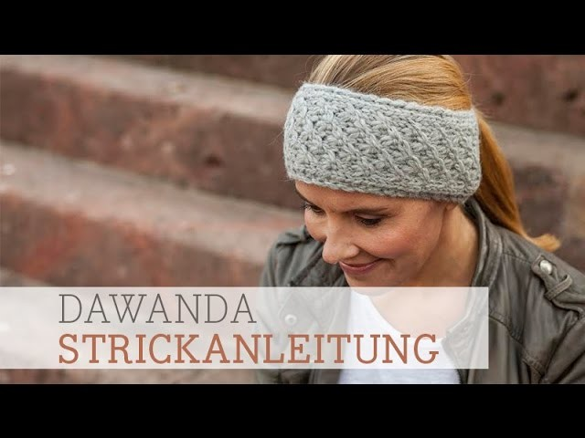 dawanda strickanleitung stirnband im dornr schenmuster. Black Bedroom Furniture Sets. Home Design Ideas